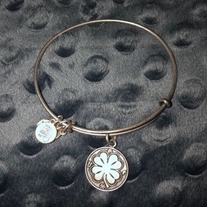 Alex and Ani silver for leaf clover bracelet